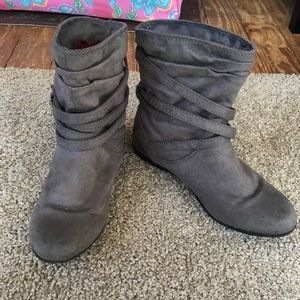 Gray Aldo Ankle Boots